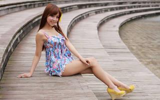 Hermosa asiática.