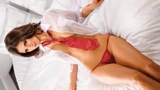 Sexy Mädchen in einem Bikini.